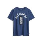 Gap男童棉質舒適圓領短袖T恤541073-藍色