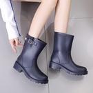 雨鞋 雨鞋女韓國可愛水鞋中筒時尚防水鞋套鞋防滑膠鞋戶外成人雨靴