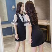 裝新款女裝早春潮蕾絲雪紡背帶連衣裙子