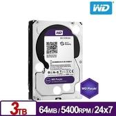 WD 3TB 紫標 監控系統 硬碟 SATA/64M/5400轉/三年保(WD30PURZ)