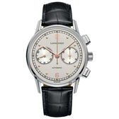 LONGINES浪琴 Heritage 復刻計時機械錶-銀x黑/41mm L28144760