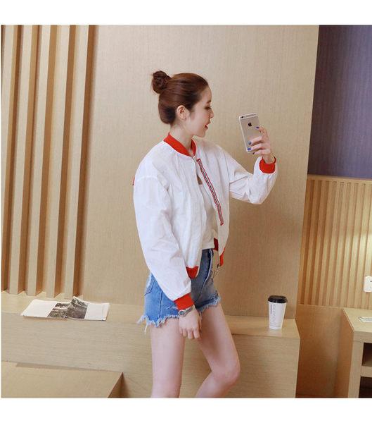 找到自己 G5 韓國時尚 防曬衣 印花 字母 棒球服 薄款 外套 短外套
