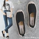 漁夫鞋 2021夏季漁夫鞋女平底老北京布鞋網面透氣蕾絲一腳蹬懶人鞋孕婦鞋 618購物節