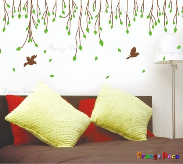 壁貼【橘果設計】春意盎然 DIY組合壁貼/牆貼/壁紙/客廳臥室浴室幼稚園室內設計裝潢