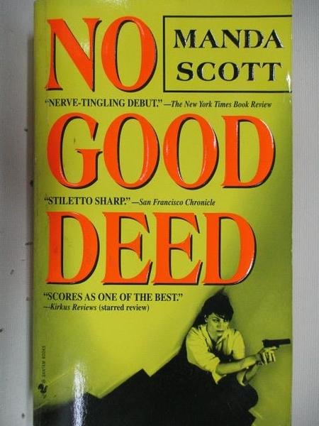 【書寶二手書T6/原文小說_AJP】No Need Deed_Manda Scott