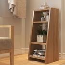 書架北歐落地置物架子小型書櫃簡約家用臥室床頭櫃客廳創意收納架【快速出貨】