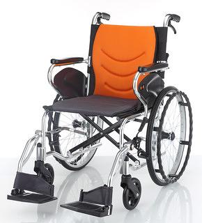 輪椅 均佳JW-250 鋁合金輪椅-可折背掀腳型(中輪)