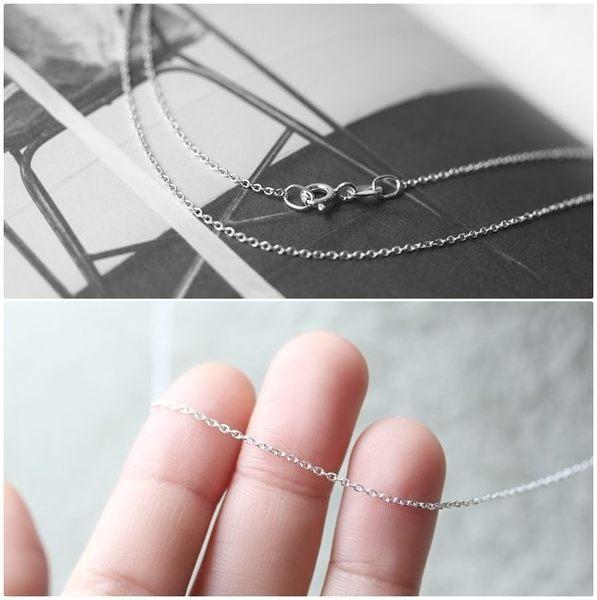 925純銀項鍊 0.8mm極細O型立體圓鏈 純鏈子-銀 防抗過敏 不退色