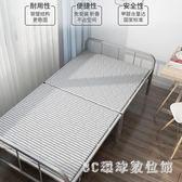 鐵架床 居家休閒折疊床板式單人家用午休床出租房簡易硬板木板床LB19372【3C環球數位館】