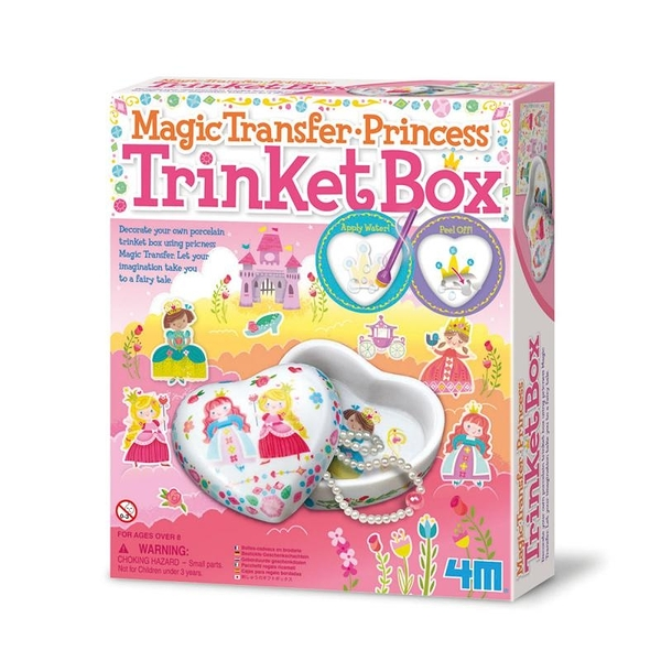 《 4M美勞創作 》神奇轉印貼 - 公主寶盒 Princess Trinket Box     ╭★ JOYBUS玩具百貨