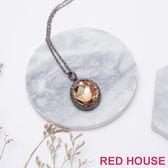 Red House 蕾赫斯-圓形水鑽項鍊(共2色)