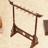 毛筆架 雞翅木小號筆掛實木筆架簡約複古文房四寶用品 筆架毛筆掛 童趣潮品