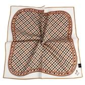 DAKS 經典格紋小狗圖純綿帕領巾(米白色)989108-148