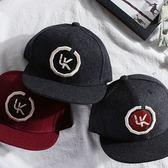 卡車帽立體字母刺繡 羊毛氈 平沿棒球帽嘻哈卡車帽子 男女情侶款 迎中秋全館85折