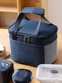 飯盒袋子保溫袋大號手提鋁箔上班帶飯手提包加厚防水大容量便當袋 極有家