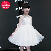 兒童連衣裙 夏季小主持人女童公主裙 蓬蓬紗洋氣花童夏裝新款晚禮服兒童洋裝
