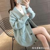 開衫外套女針織毛衣寬松外穿時尚2020新款春秋季慵懶風洋氣ins潮 美眉新品