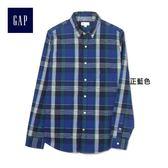 Gap男裝 休閒時尚長袖襯衫 357506-正藍色