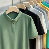 男士2021新款高端純色Polo衫短袖t恤男裝夏季上衣服翻領潮流韓版超級品牌【邦邦】