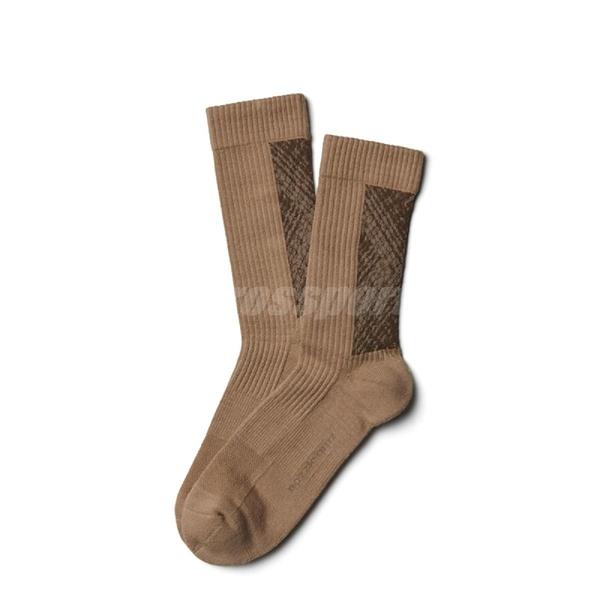 Nozzle Quiz 後研 Landing 中高筒休閒襪 橫紋羅織 男女款 砂岩 單雙入 單一尺寸 23cm-29cm【ACS】 AGLDSX01NN