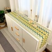 現代簡約北歐長方形電視櫃桌布餐桌桌旗客廳茶几布餐邊櫃鞋櫃蓋布  極有家