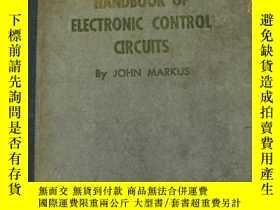 二手書博民逛書店handbook罕見of electronic control