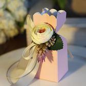 喜品空間婚慶用品歐式創意喜糖盒子新款婚禮包裝盒花朵形狀喜糖盒第七公社