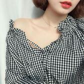 [618好康又一發]韓國chic風細條百搭簡約短款脖子配飾品X149