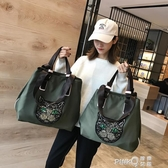 網紅旅行包女韓版短途手提袋行李包旅游大容量輕便運動健身單肩包(pink Q時尚女裝)