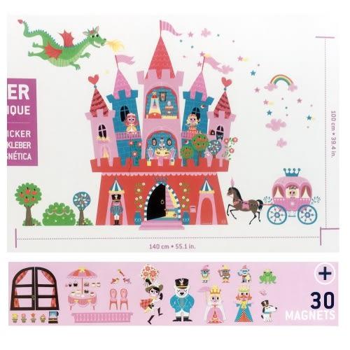 法國【Janod】互動式磁性壁貼-公主城堡