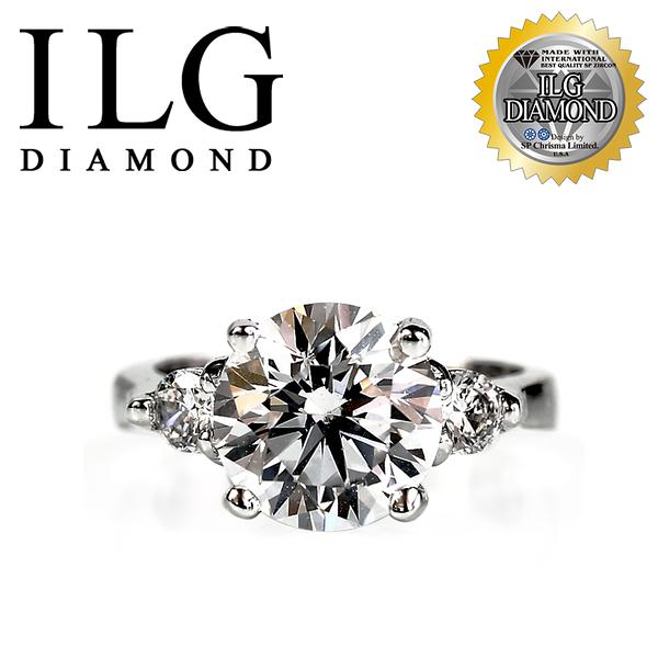 【頂級美國ILG鑽飾】頂級八心八箭鑽石戒指- 3克拉時尚貴族  RI035