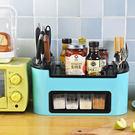 ✭米菈生活館✭【W35】廚房多功能置物架 收納 調味罐 刀具 分類 儲物 刀架 掛勾 筷 叉 匙 瀝水