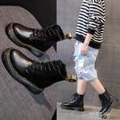 女童馬丁靴2021年新款夏季英倫風ins薄款兒童短靴男童春秋單靴潮 一米陽光