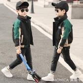 童裝男童外套秋裝新款兒童韓版風衣中大童秋冬裝洋氣夾克上衣 莫妮卡小屋