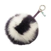 FENDI 紫X白毛球吊飾 鑰匙釦 Bag Bug Charm 【BRAND OFF】