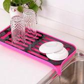 ✭米菈 館✭~S17 ~廚房雙層多用瀝水托盤有瀝水口廚房置物架杯架碗盤架雙層托盤鍋架