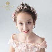 兒童頭飾花環粉色頭花韓式森女系女童發飾公主頭箍韓國女孩發箍
