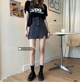 褲裙 韓版包臀裙高腰牛仔裙女裙子夏季2021新款短裙復古a字半身裙褲裙 榮耀 618