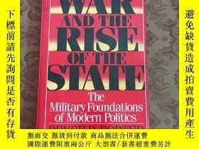 二手書博民逛書店WAR罕見AND THE RISE OF THE STATE【詳