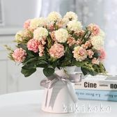 仿真盆栽花玫瑰花藝套裝花卉盆栽含花瓶假花裝飾絹花客廳餐桌擺件  XY4942【KIKIKOKO】