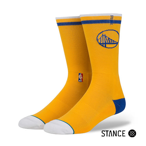 【STANCE】 WARRIORS CASUAL LOGO-男襪(M558D5WARR YEL)