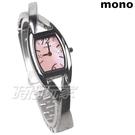 mono 交錯舞曲 酒桶型 粉珍珠貝面 晶鑽點綴錶盤 18mm 女錶 時間玩家 3801-376刻粉