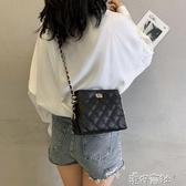 法國小眾高級感包包新款小ck女包限定洋氣時尚斜挎菱格鍊條包 【快速出貨】