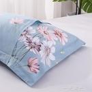 加厚100%純棉枕套一對裝48cm74全棉枕頭套大號家用枕皮枕頭皮單人  一米陽光