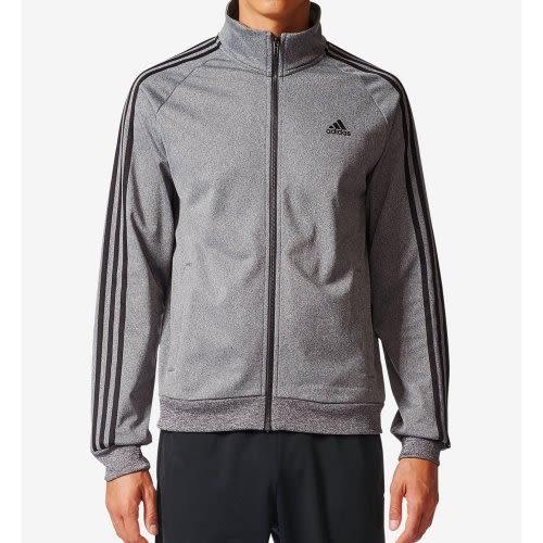 Adidas-  愛迪達Tricot運動立領拉鍊夾克(深灰色)