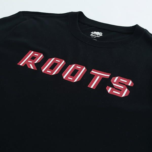 男裝Roots 梅爾福特短袖T恤 - 黑色