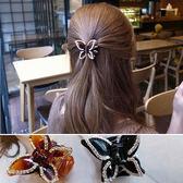 髮飾 蝴蝶 鑲鑽 抓夾 氣質 髮夾【DD19213】 icoca  05/04