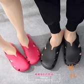 家用涼鞋 不臭腳柔軟乳膠拖鞋包頭橡膠洞洞鞋~橘社小鎮~