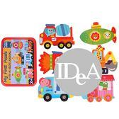 IDEA  幼兒拼圖 早教 益智 6片 玩具 兒童 可愛 交通工具 動物 海洋 野生