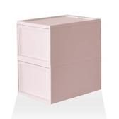 【RISU】北歐風堆疊抽屜櫃組 L -粉紅色